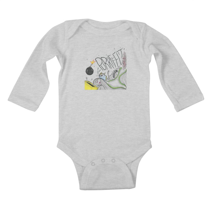 Purrffection Kids Baby Longsleeve Bodysuit by Democratee