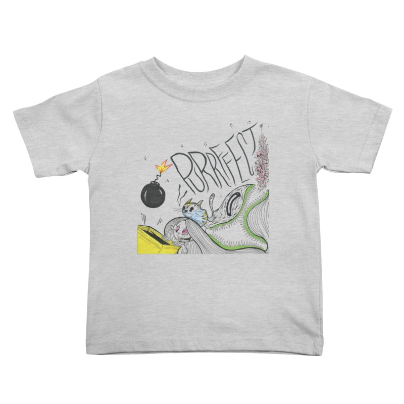 Purrffection Kids Toddler T-Shirt by Democratee