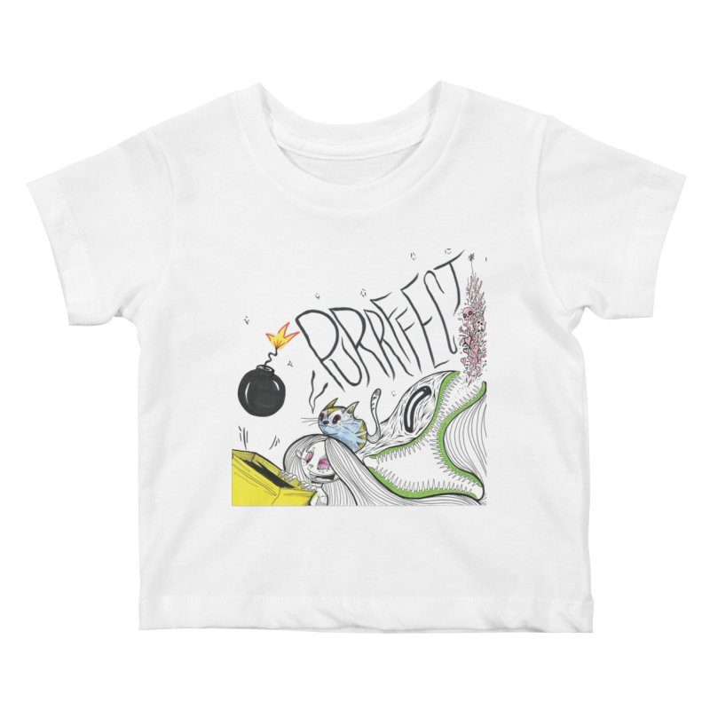 Purrffection Kids Baby T-Shirt by Democratee