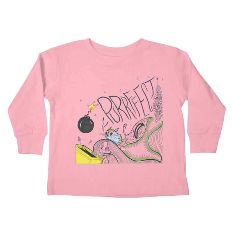 Purrffection Kids Toddler Longsleeve T-Shirt by Democratee