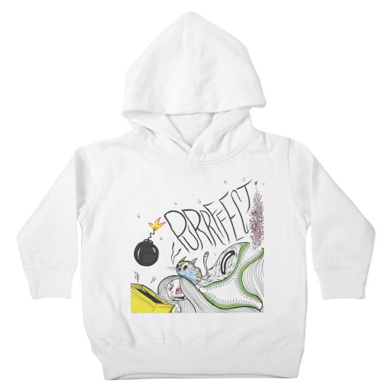 Purrffection Kids Toddler Pullover Hoody by Democratee
