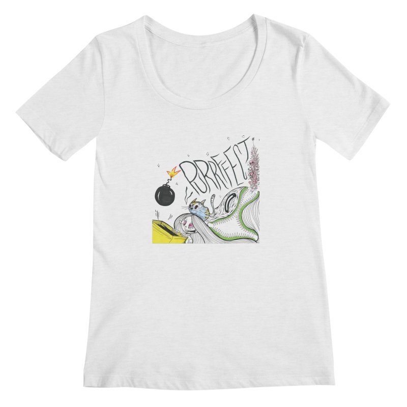 Purrffection Women's Regular Scoop Neck by Democratee