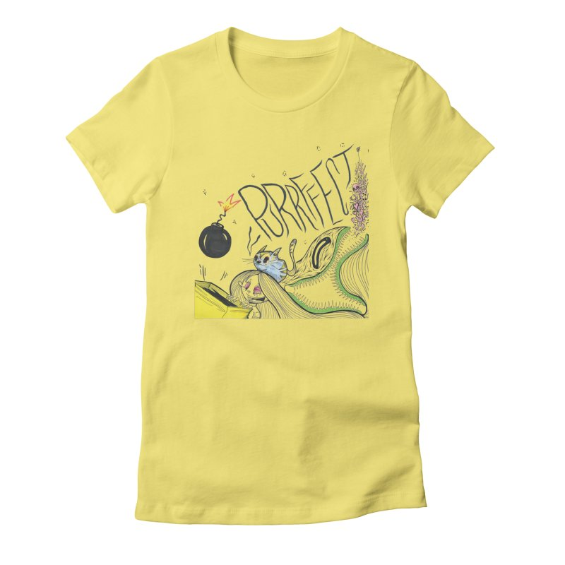 Purrffection Women's Fitted T-Shirt by Democratee