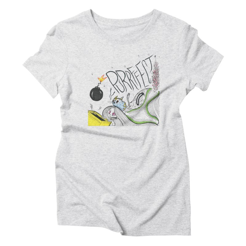 Purrffection Women's Triblend T-Shirt by Democratee