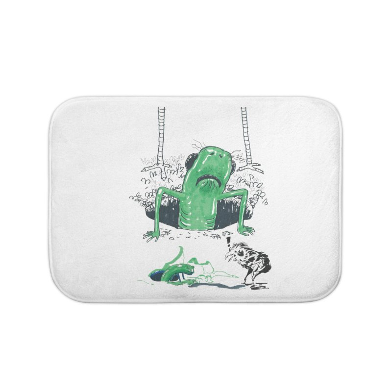 The Early Bird Gets the Worm Home Bath Mat by Democratee