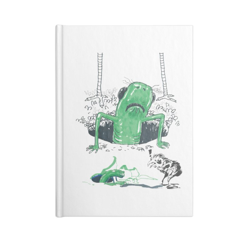 The Early Bird Gets the Worm Accessories Lined Journal Notebook by Democratee
