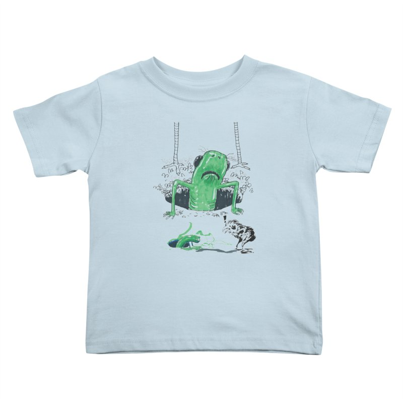The Early Bird Gets the Worm Kids Toddler T-Shirt by Democratee