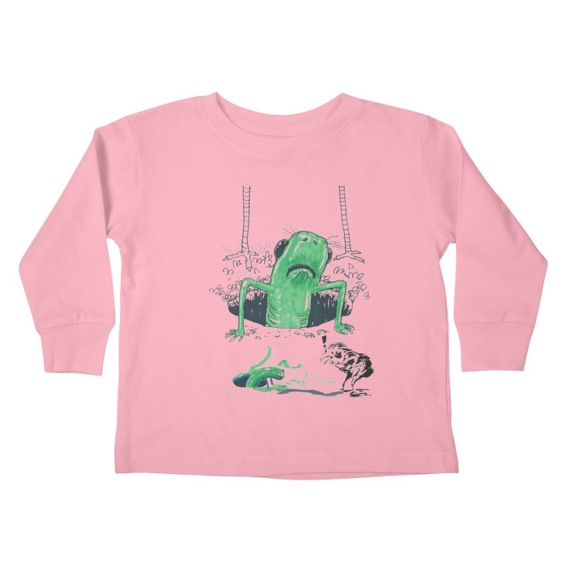 The Early Bird Gets the Worm Kids Toddler Longsleeve T-Shirt by Democratee