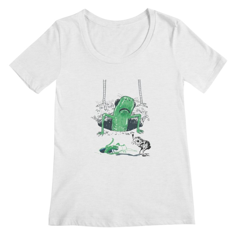 The Early Bird Gets the Worm Women's Regular Scoop Neck by Democratee