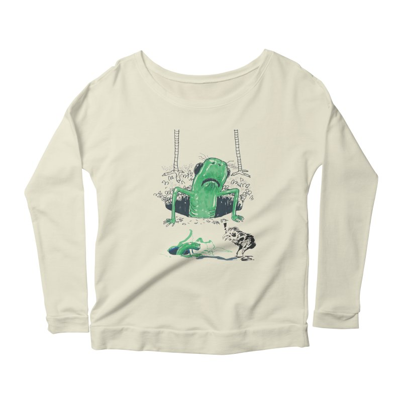 The Early Bird Gets the Worm Women's Scoop Neck Longsleeve T-Shirt by Democratee