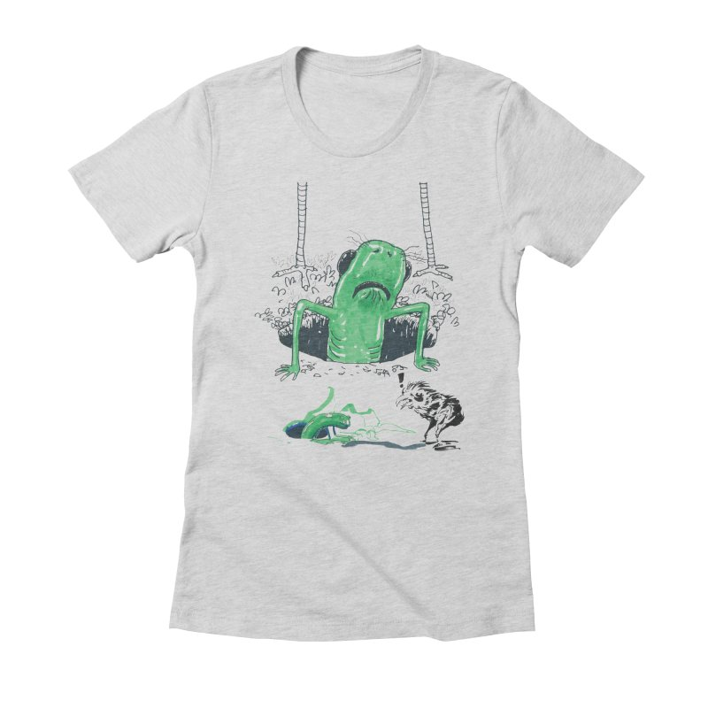 The Early Bird Gets the Worm Women's Fitted T-Shirt by Democratee