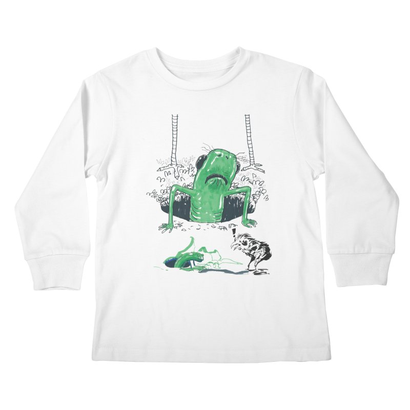 The Early Bird Gets the Worm Kids Longsleeve T-Shirt by Democratee