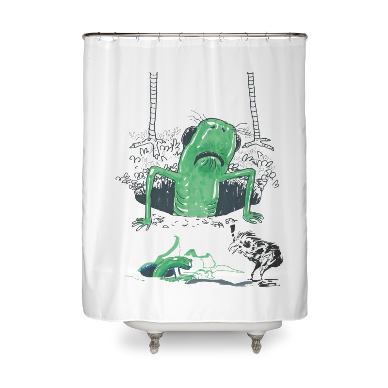 The Early Bird Gets the Worm Home Shower Curtain by Democratee
