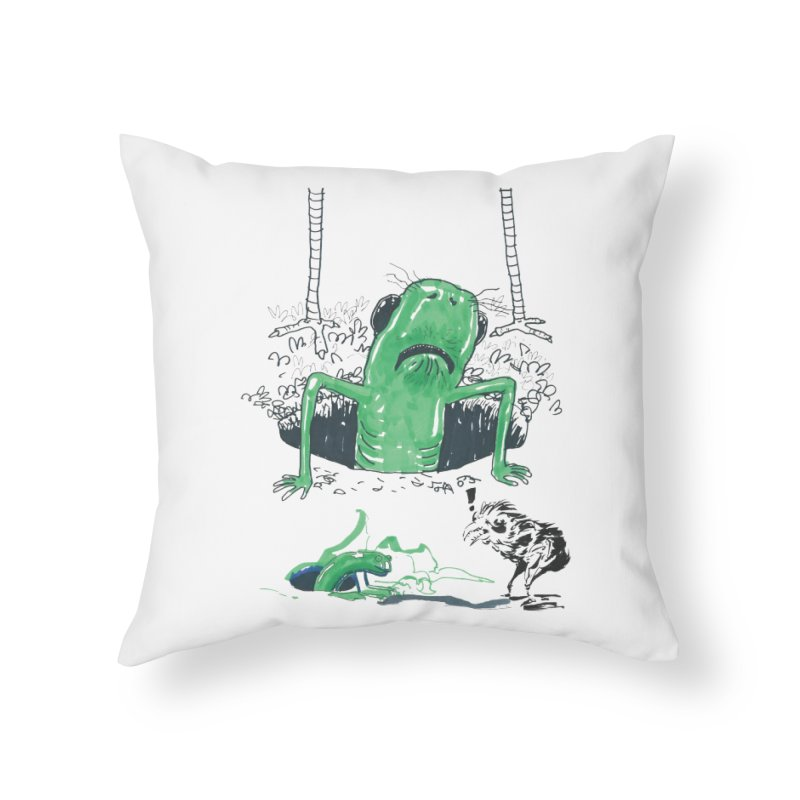The Early Bird Gets the Worm in Throw Pillow by Democratee