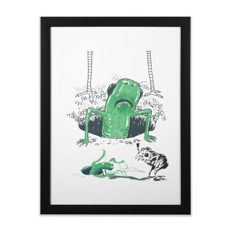 The Early Bird Gets the Worm Home Framed Fine Art Print by Democratee