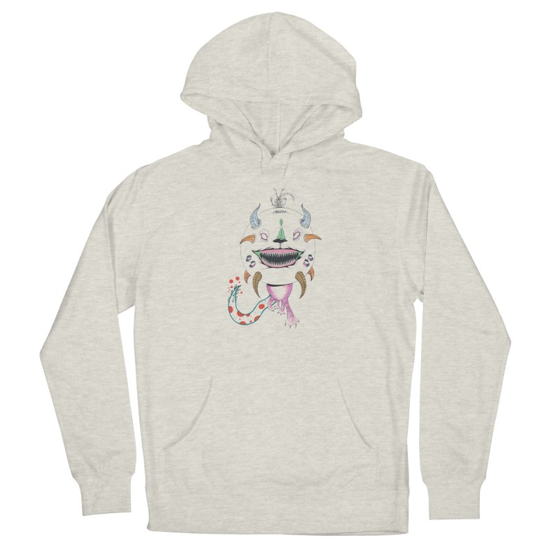 Horned Purple People Eater Women's French Terry Pullover Hoody by Democratee