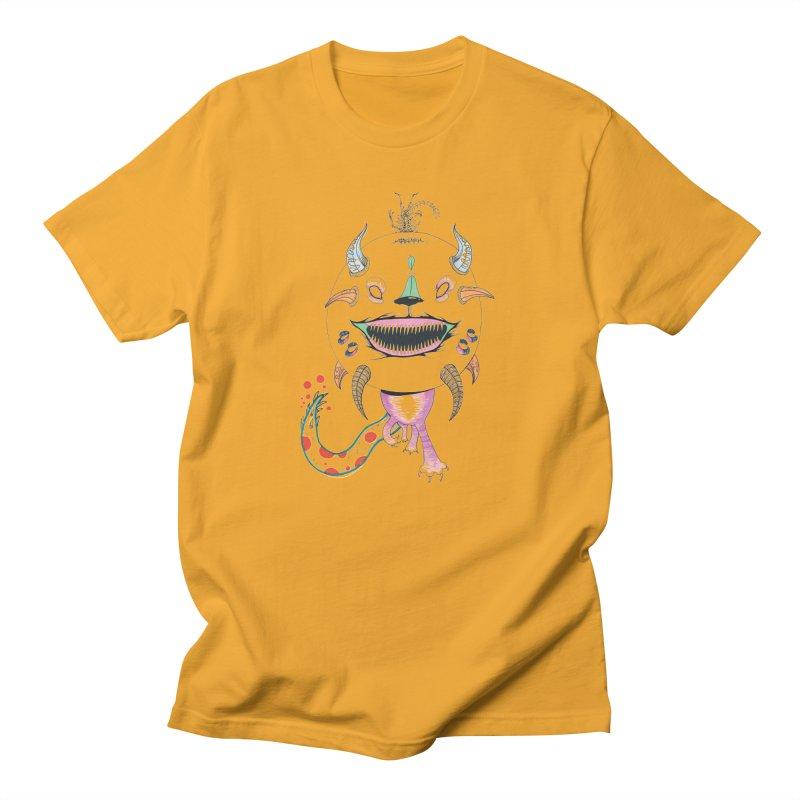 Horned Purple People Eater Men's Regular T-Shirt by Democratee