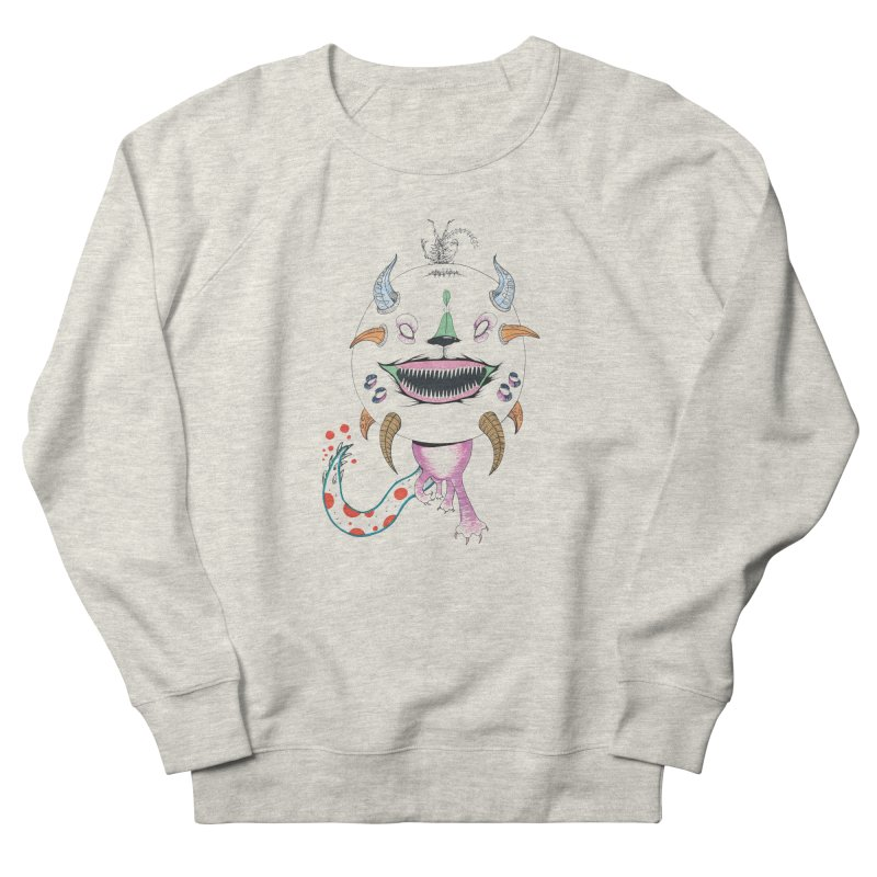 Horned Purple People Eater Women's French Terry Sweatshirt by Democratee