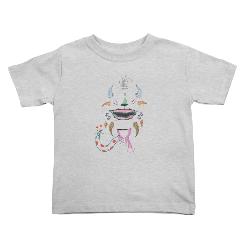 Horned Purple People Eater Kids Toddler T-Shirt by Democratee