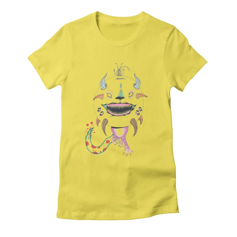 Horned Purple People Eater Women's T-Shirt by Democratee