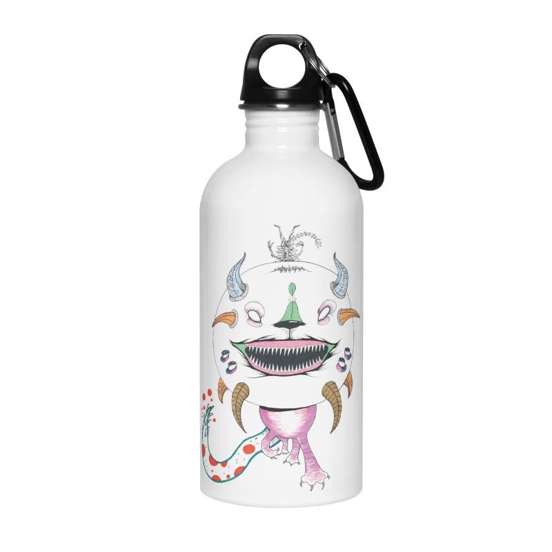 Horned Purple People Eater Accessories Water Bottle by Democratee