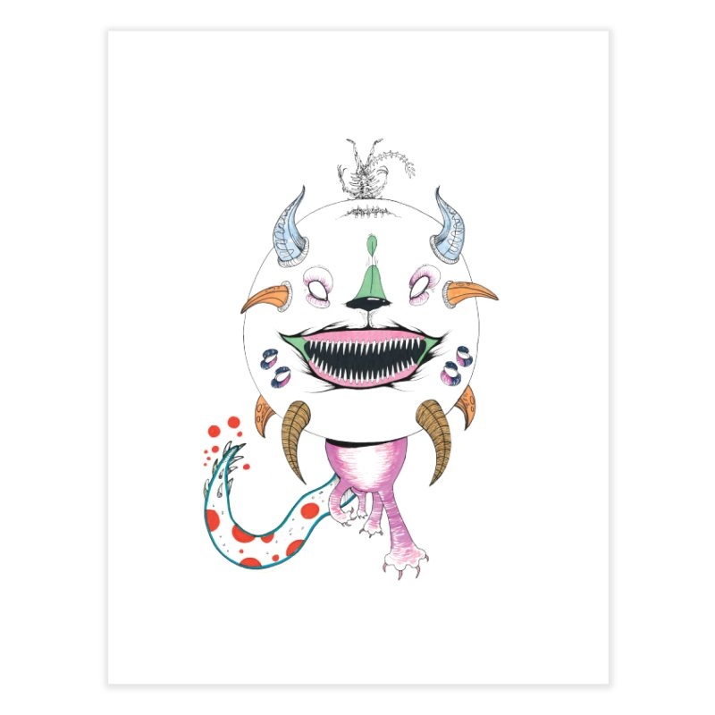 Horned Purple People Eater Home Fine Art Print by Democratee