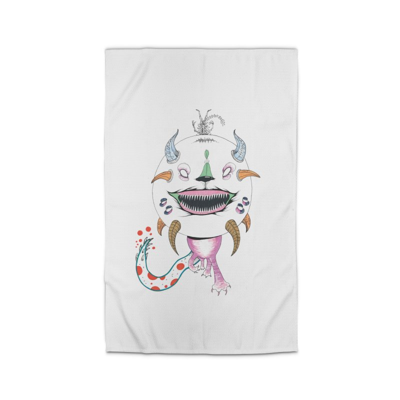 Horned Purple People Eater Home Rug by Democratee