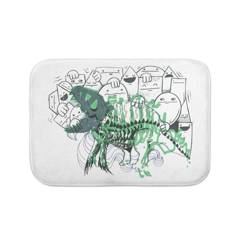 The Beast of Shapesville Home Bath Mat by Democratee