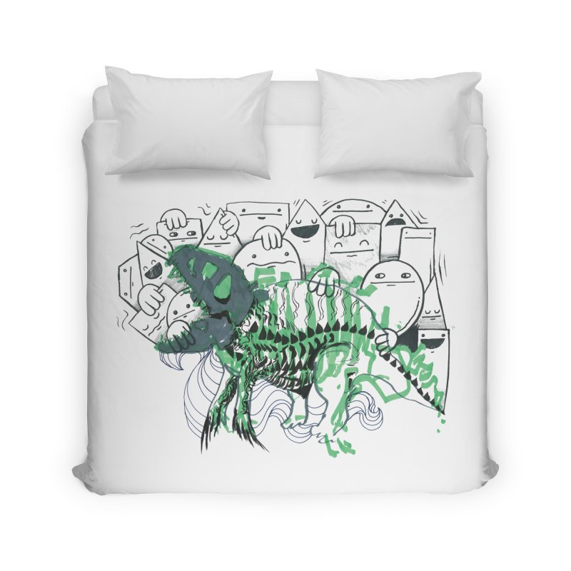 The Beast of Shapesville Home Duvet by Democratee