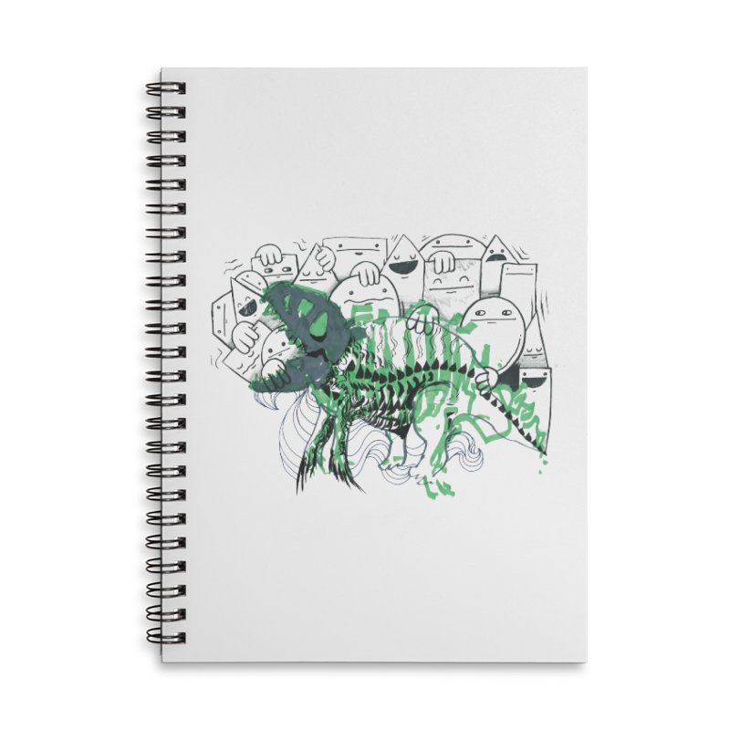 The Beast of Shapesville Accessories Lined Spiral Notebook by Democratee