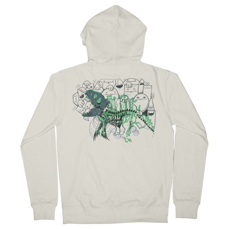 The Beast of Shapesville Women's French Terry Zip-Up Hoody by Democratee