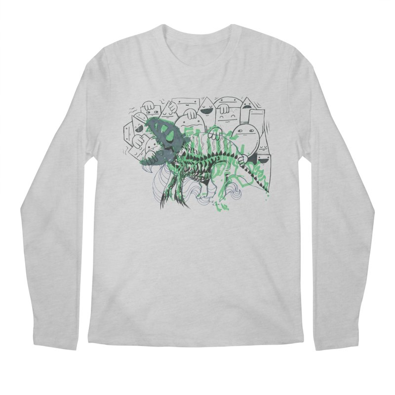 The Beast of Shapesville Men's Regular Longsleeve T-Shirt by Democratee