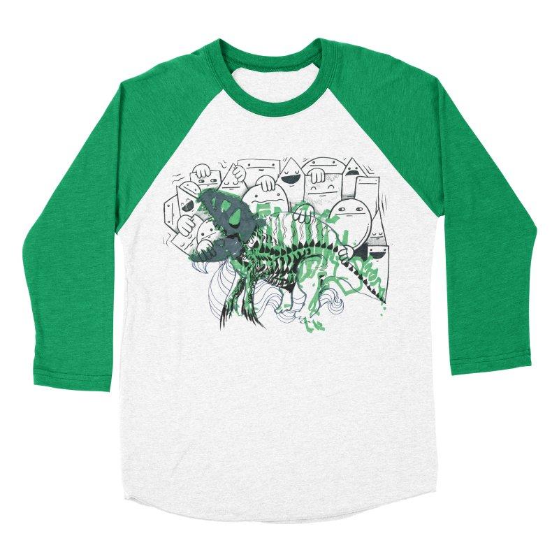 The Beast of Shapesville Men's Baseball Triblend Longsleeve T-Shirt by Democratee