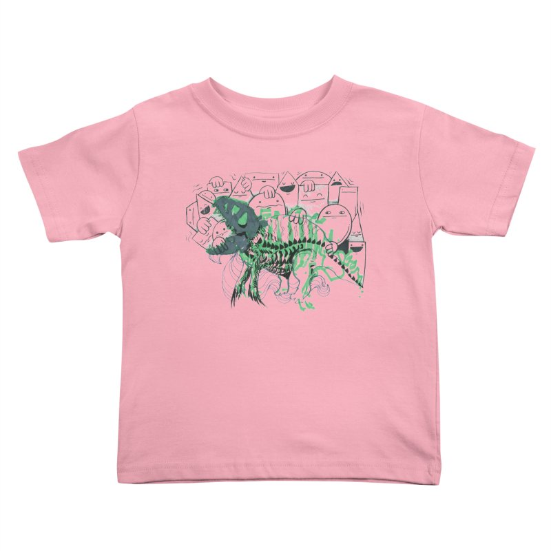 The Beast of Shapesville Kids Toddler T-Shirt by Democratee
