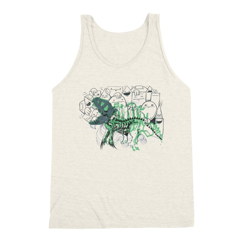 The Beast of Shapesville Men's Triblend Tank by Democratee