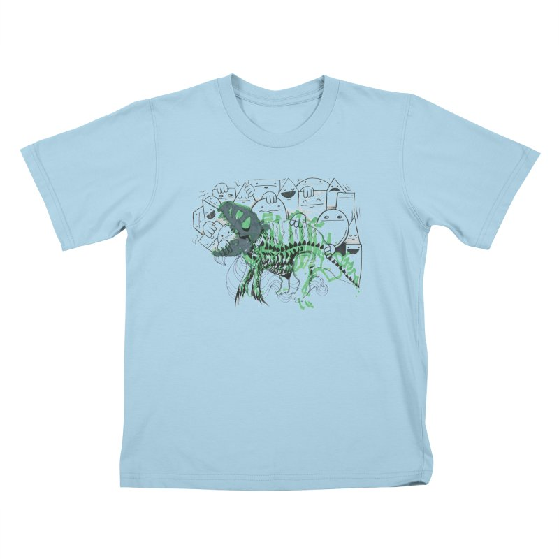 The Beast of Shapesville Kids T-Shirt by Democratee