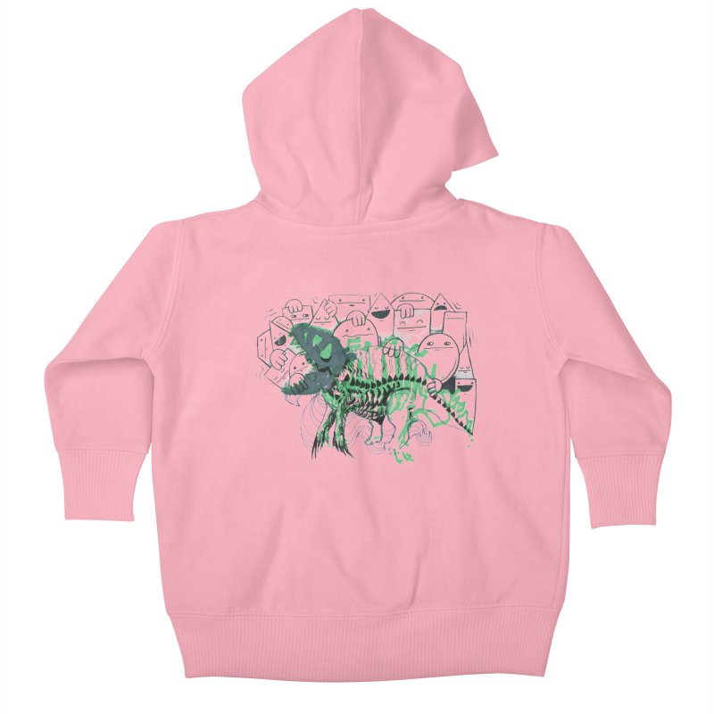 The Beast of Shapesville Kids Baby Zip-Up Hoody by Democratee