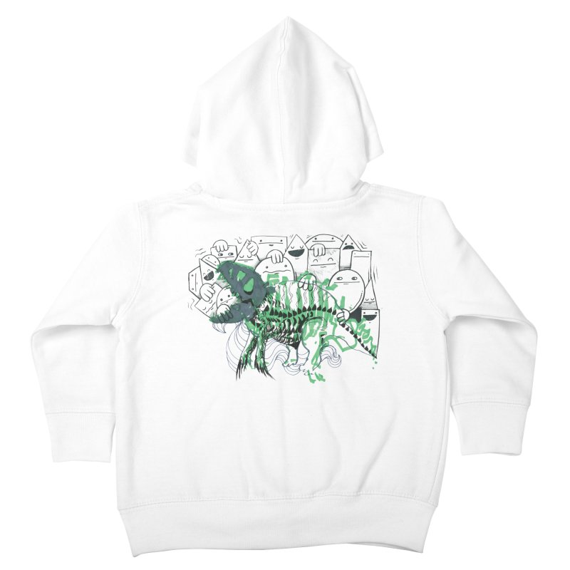 The Beast of Shapesville Kids Toddler Zip-Up Hoody by Democratee