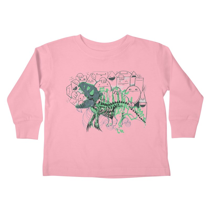 The Beast of Shapesville Kids Toddler Longsleeve T-Shirt by Democratee