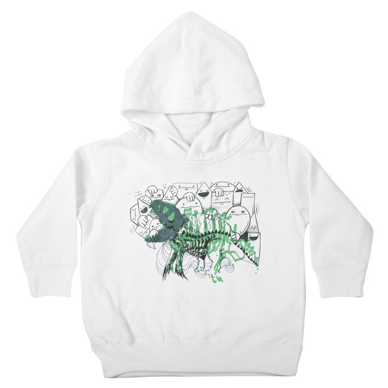 The Beast of Shapesville Kids Toddler Pullover Hoody by Democratee