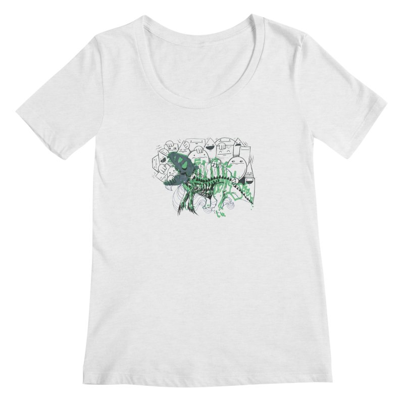 The Beast of Shapesville Women's Regular Scoop Neck by Democratee