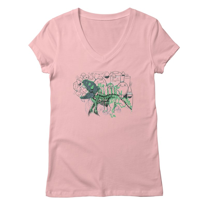 The Beast of Shapesville Women's Regular V-Neck by Democratee