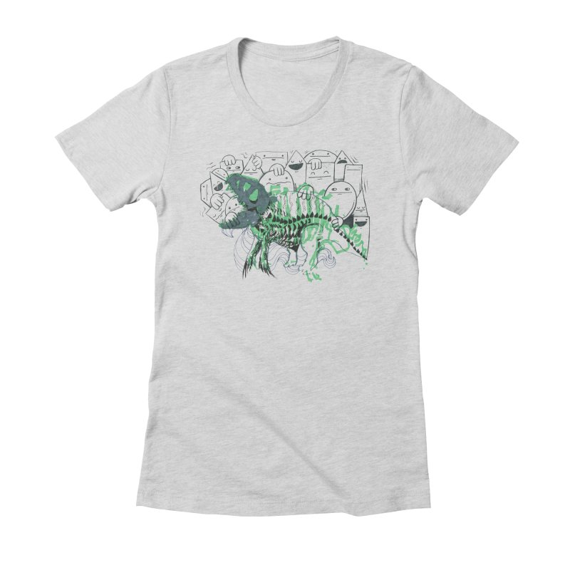 The Beast of Shapesville Women's Fitted T-Shirt by Democratee