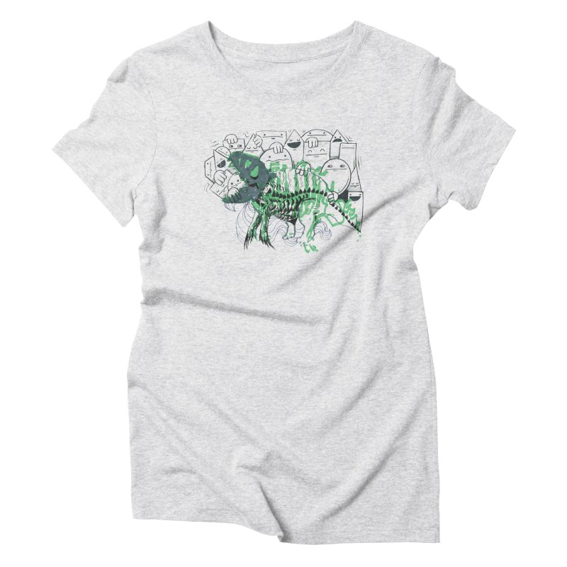 The Beast of Shapesville Women's Triblend T-Shirt by Democratee