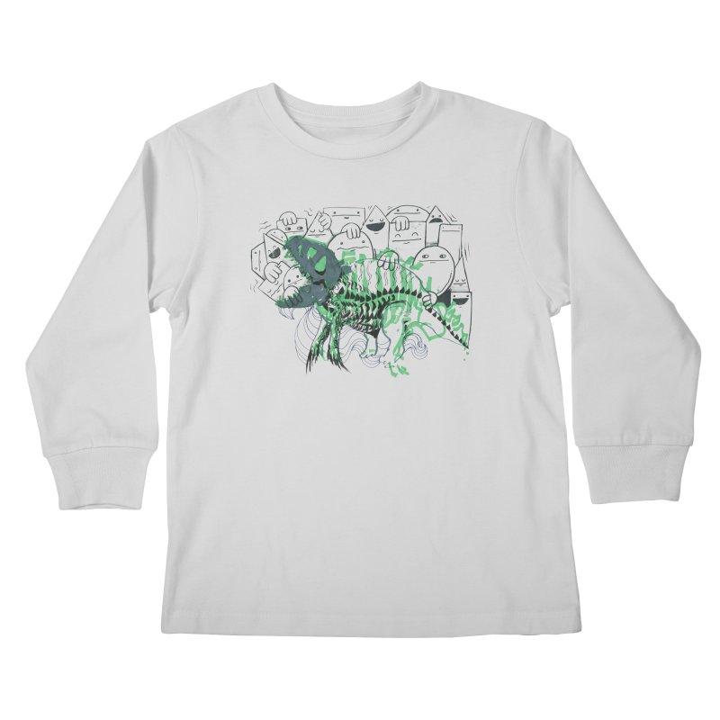 The Beast of Shapesville Kids Longsleeve T-Shirt by Democratee