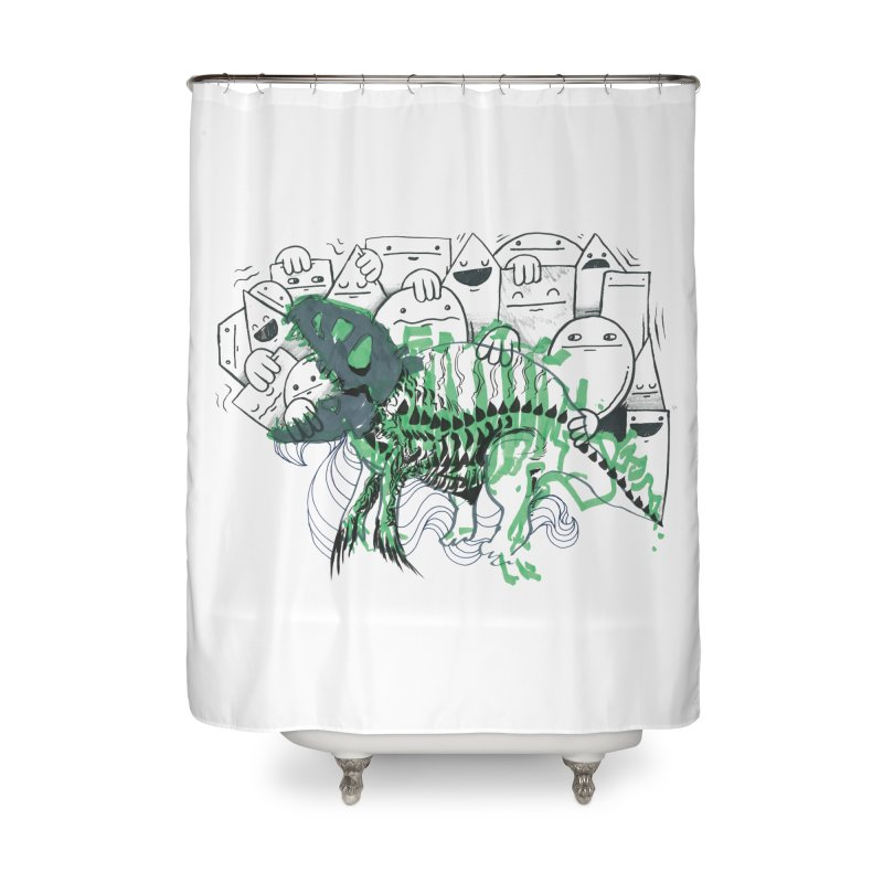 The Beast of Shapesville Home Shower Curtain by Democratee