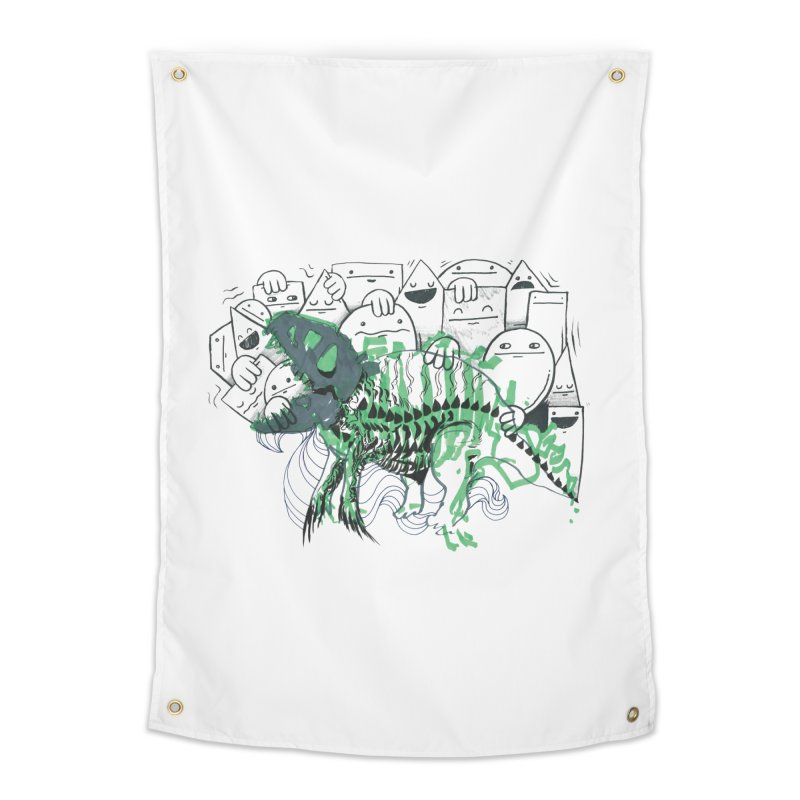 The Beast of Shapesville Home Tapestry by Democratee