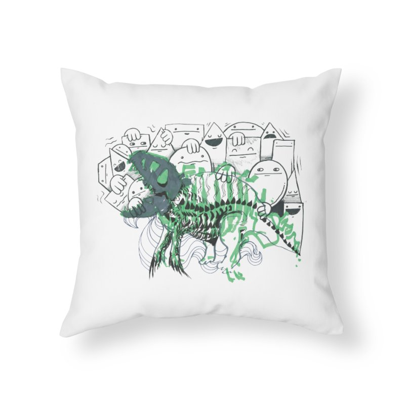 The Beast of Shapesville Home Throw Pillow by Democratee