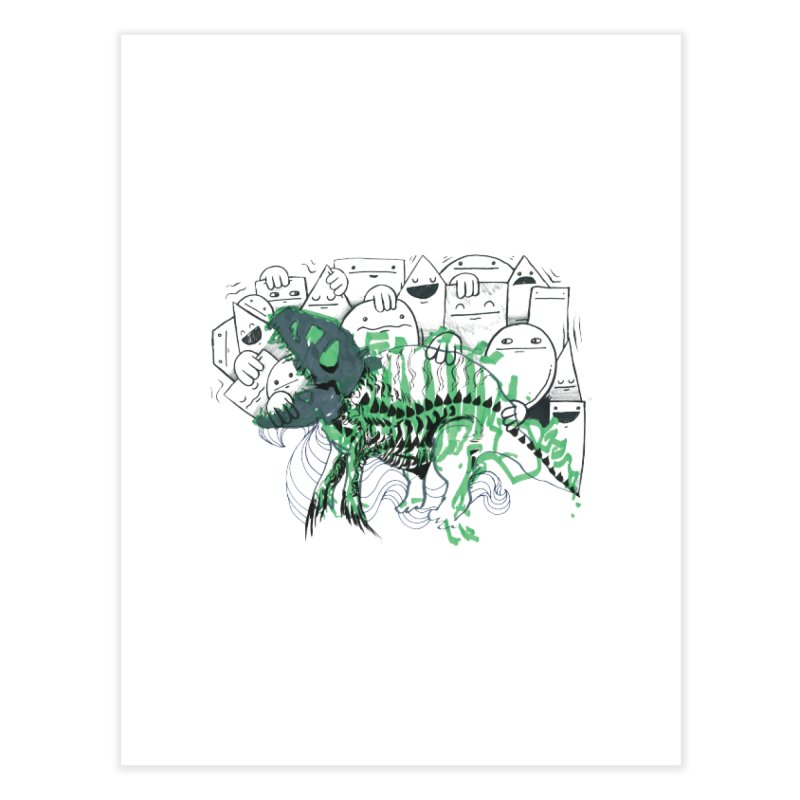 The Beast of Shapesville Home Fine Art Print by Democratee