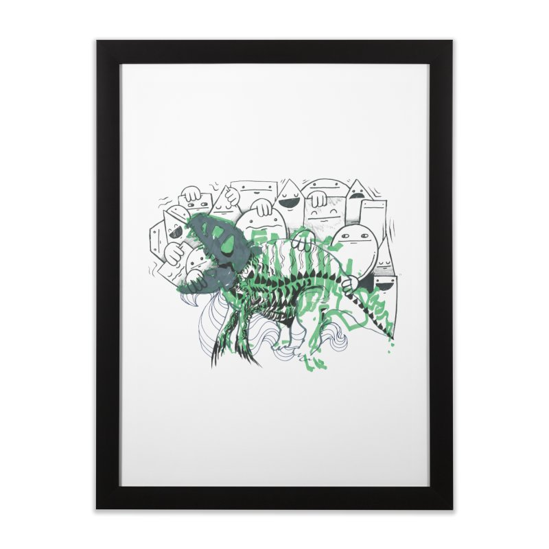 The Beast of Shapesville Home Framed Fine Art Print by Democratee